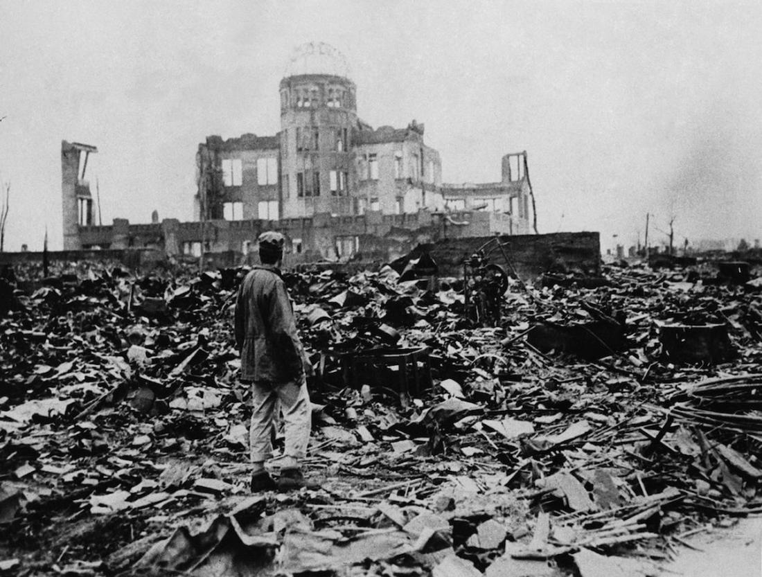 World War II, after the explosion of the atom bomb in August 1945, Hiroshima, Japan. (Photo by: Universal History Archive/UIG via Getty Images)