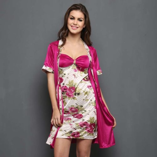 clovia-picture-set-of-2-short-print-nightyand-robe-wine-12664