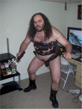 fat hairy and armed